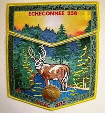 ECHECONNEE 358 2-PATCH + PIN OA 100TH CENTENNIAL 2015 NOAC FLAP DELEGATE 50 MADE