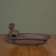 Bathtub Soap Dish Holder with Faucets - Cast Iron - Primitive Country