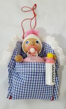 Steinbach Christmas Ornament Made In Germany Baby Pink Outfit Blue Blanket