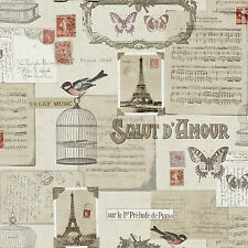 SALUTE BIRDS BIRDCAGES BUTTERFLY FRENCH THEME WALLPAPER POB-31-01-8