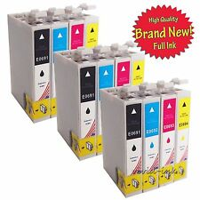 12pk  Ink T069 for Epson 069 69 WorkForce 30 500 600 610 615 1100 Stylus CX7000F