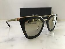 NEW Genuine Prada PR53SS 2AU6O0 52/21 Ladies Havana Sunglasses Gold Mirror