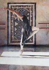 "Steve Hanks, ""Southwest Ballet"", small framed & matted print,9 x 7.75 frame"