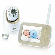 Infant Optics DXR-8 VIDEO BABY CAMERA & MONITOR, White & Biege