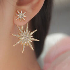 1Pc Charm Women'  Earring Crystal Rhinestone Dangle Gold Plated Star Ear Stud