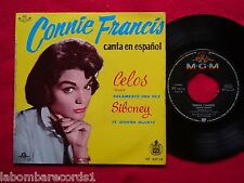 "CONNIE FRANCIS Celos 7"" EP 1960 MGM SPAIN spanish Sung (VG+/EX-)  8"