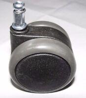 Stuhlrolle Hartbodenrolle 65 mm Stift 11 mm für Laminat Fliesen Parkett Bremse