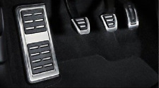 Genuine Audi A4 & A5 B9 Aluminium Pedal Covers + Footrest for RHD & Manual