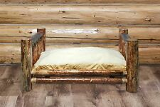Raised Dog Beds for Large Dogs Amish Made Log Cabin Furniture