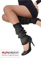 sympatico - modisch winterliche Beinstulpen schwarz mohair/acryl-mischung Stulpe