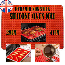 *UK Seller* Silicone Pyramid Fat Reducing Oven Tray cooking Mat Baking Sheet