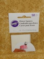 Waxed Paper Squares,Pre-Cut,Wilton,Icing Flower nail,414-920,Cake Decorating