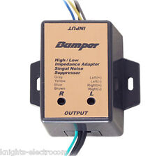 HIGH TO LOW IMPEDANCE ADAPTER WITH SIGNAL NOISE SUPPRESSOR car amplifier low