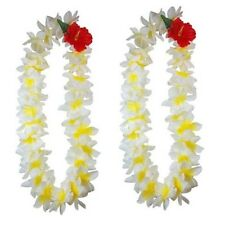 NEW Hawaiian Silk Flower Lei Luau Party Hula Wedding Necklace ~ QTY 2 LEI