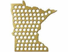 Beer Cap Traps Minnesota State Map Beer Soda Pop Bottle Wood Cap Caps Organizer
