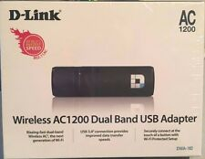 D-link DWA-182 Wireless AC1200 Dual Band USB3 Adapter Brand NEW Sealed Original