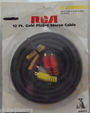 RCA (VH914) 12FT Composite rca Video AV Kit For TV DVD, Home Theater, VCR, Ect