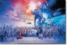 STAR WARS ENTIRE CAST OF CHARACTERS GALAXY POSTER NEW 34X22 FREE SHIPPING