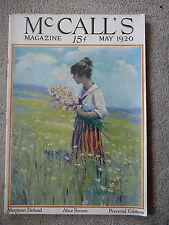McCALL'S MAGAZINE - MAY 1920 - MAY FLOWER GAY BASKETS PAPER DOLL by Barbara Hale