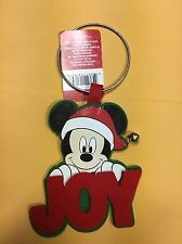 Disney Santa Mickey Mouse Christmas Door Knob Hanger Decoration JOY
