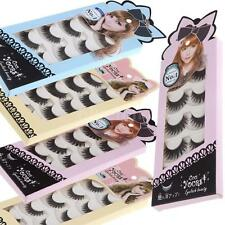 5 Pairs False Eyelashes Pure Hand-Made Voluminous Thick Long Fake Lashes G0X0