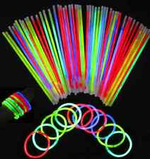 100 Premium Glow Sticks Bracelets Neon Light Glowing Party Favors Rally Raves