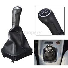 5 Speed Leather Gear Shift Knob Stick Gaiter For VOLKSWAGEN VW POLO MK4 9N 9N2