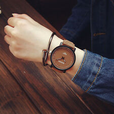 NEW Fashion Watches Womens Watches Steel Leather Quartz Analog Couple Wristwatch