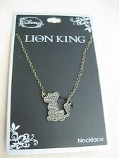 """Disney Simba Lion King Just Can't Wait to be King Necklace 21"""" Brass Color"""
