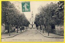cpa RARE 78 CHATOU en 1909 Seine et Oise (Yvelines) L'Avenue de l'HÔTEL de VILLE