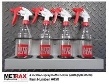 4 Spray bottle holder fit Autosmart 500ml / Garage Shed Van car valet accessory