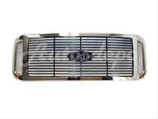 New Grille Chrome Shell W/Black Billet Type Insert For 2005-2007 Super Duty