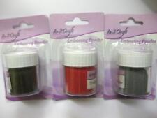 4 x RED GOLD AND SILVER EMBOSSING POWDER IN 2 CRAFT NEW PACKETS JOB LOTS SHOP EM