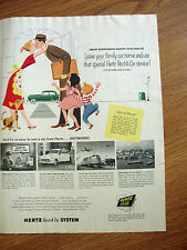 1954 Hertz Rent A Car Ad Ford  in Station in Seattle Washington