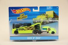 2015 Hot Wheels ROCK N' RACE Semi-Truck Car Hauler Big Rig NEW IN BOX