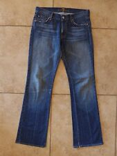 """7 for all Mankind Blue Bootcut Jeans Size 27 Inseam 31.5"""""""