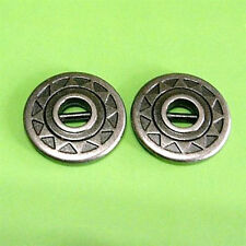 15 Metal Brass Plate Small Shirt Craft Sew On Buttons 11.5mm 18L Pewter G63