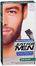 JUST FOR MEN Color Gel Mustache - Beard M-45 Dark Brown 1 Each (Pack of 9)