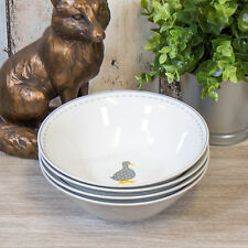 Set of 4 Farmyard Duck Serving Bowls Breakfast Cereal Dessert Soup Pasta Dishes