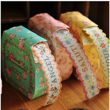 Cool Fresh Floral Print DIY Masking Paper Roll Tape Decorative Adhesive Stickers
