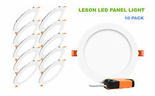 10 pcs LESON 15W Round Cool White LED Recessed Ceiling Panel Down Light Bulbs
