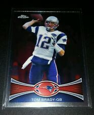 Tom Brady #220 Patriots 2012 Topps Chrome Trading Card NFL Football NM