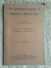 The Agricultural Geography of England on a Regional Basis by Roxby & Ward.  1915