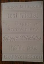 CTFD3017/C6/Embossing /Folder/Greetings/congratulations/Happy Birthday/Get well