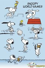 PEANUTS ~ SNOOPY WORLD GAMES 24x36 CARTOON POSTER Woodstock Schulz Olympics