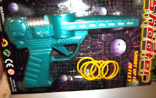 Ring Shooter toy plastic gun, shoots plastic rings up to 20 feet, ages 3+ NIP