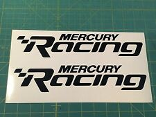 Mercury Racing 2014 NEW BLACK  Sticker Race Boat Outboard DECAL YOU GET 2