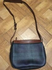 Polo Ralph Lauren Leather Plaid Handbag Purse Shoulder Crossbody