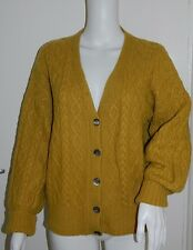 Hermione Spencer HAND Knitted in Scozia 100% CASHMERE CARDIGAN-L