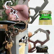 Survival Camping EDC MultiTool Gear Carabiner Keychain Bottle Opener Screwdriver